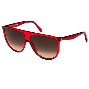 Celine Pink/Red Shield Gradient Sunglasses